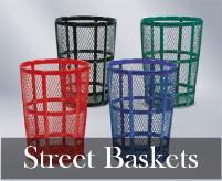Expanded Steel Street Baskets