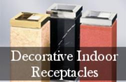 Decorative Indoor Commercial Trash Receptacles