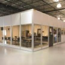 Modular Office with Full Width Windows